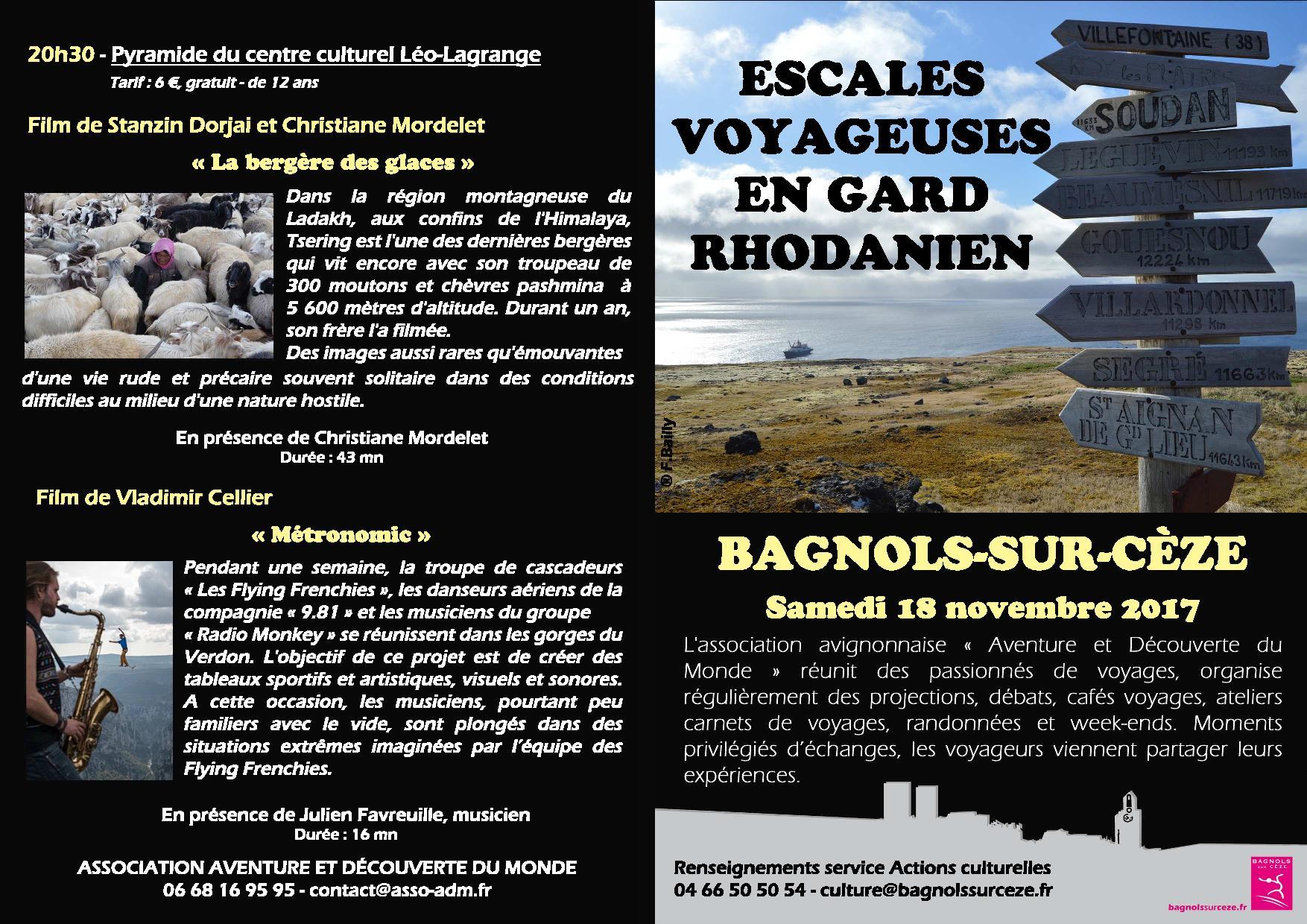 Escales voyageuses en Gard Rhodanien @ Salle de la Pyramide | Bagnols-sur-Cèze | Occitanie | France