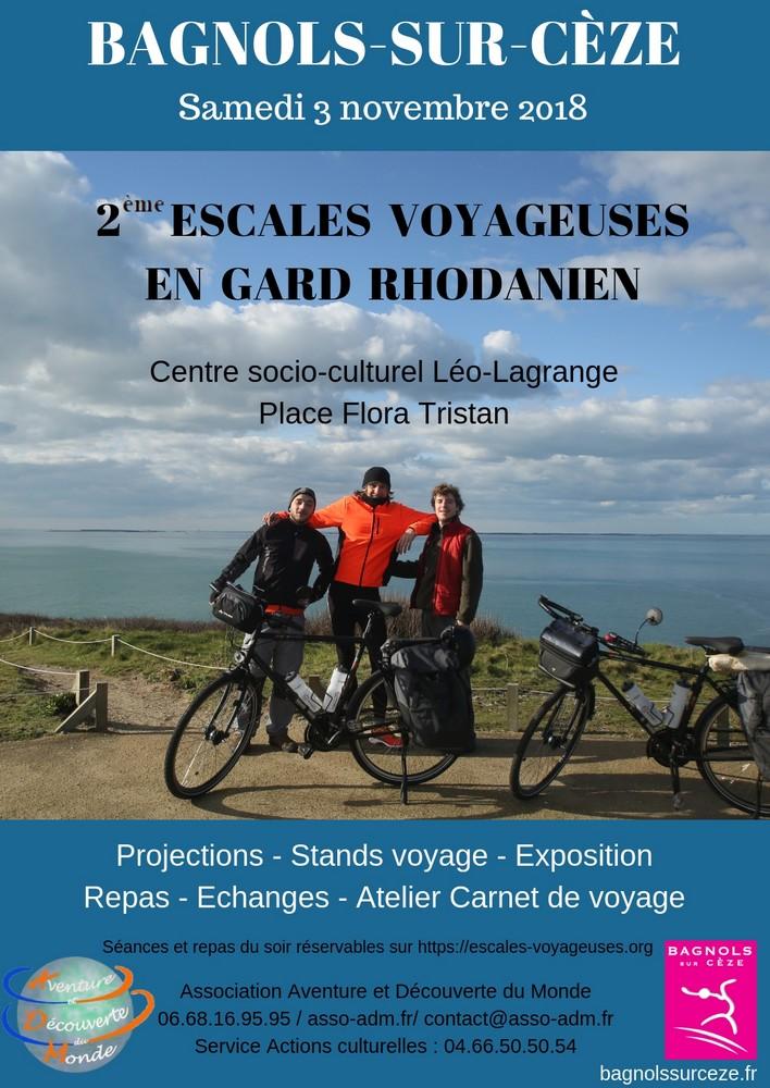 Escales voyageuses en Gard Rhodanien 2018 @ Salle de la Pyramide | Bagnols-sur-Cèze | Occitanie | France